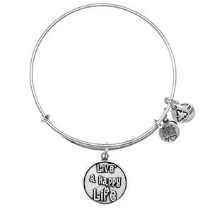 Alex and Ani Live A Happy Life Bangle Bracelet